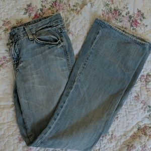 Perfectly Worn Light Blue Jeans